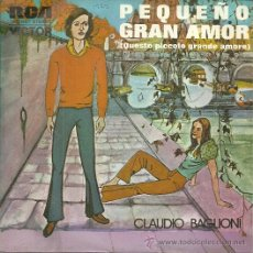Dischi in vinile: CLAUDIO BAGLIONI CANTA EN ESPAÑOL SINGLE SELLO RCA VICTOR AÑO 1972 EDITADO EN ESPAÑA . Lote 49943139