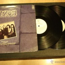 Discos de vinilo: SAXON, BACK ON THE STREET, 2LPS CONNOSSEU COLLECTION RECORDS, 1989, MADE IN UK, GATEFOLD. Lote 49945026