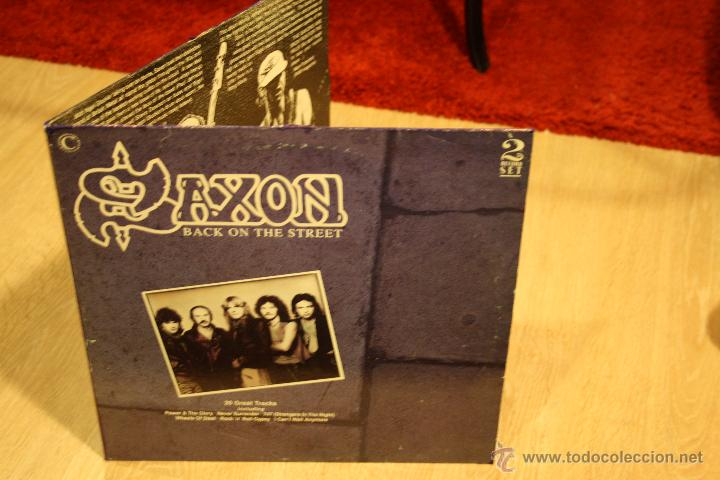 Discos de vinilo: SAXON, BACK ON THE STREET, 2LPs CONNOSSEU COLLECTION RECORDS, 1989, MADE IN UK, GATEFOLD - Foto 5 - 49945026