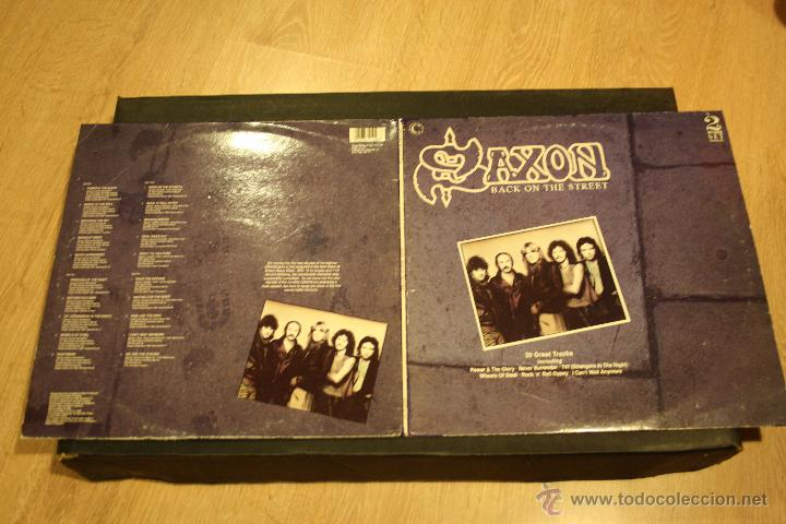 Discos de vinilo: SAXON, BACK ON THE STREET, 2LPs CONNOSSEU COLLECTION RECORDS, 1989, MADE IN UK, GATEFOLD - Foto 6 - 49945026