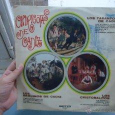 Discos de vinilo: DISCO VINILO - LP CHIRIGOTAS DE CADIZ - LOS TARANTOS DE CADIZ - LOS BEDUINOS Y LOS CRISTOBALITOS- CA. Lote 49945354