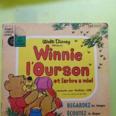 Discos de vinilo: WINNIE L'OURSON ET LARBRE A MIEL , WALT DISNEY - LIBRO DISCO 1969. Lote 49948320