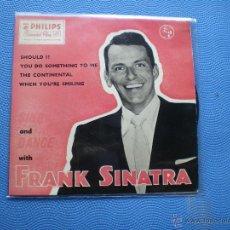 Discos de vinilo: FRANK SINATRA SHOULD IT+3 EP UK PDELUXE. Lote 49948413