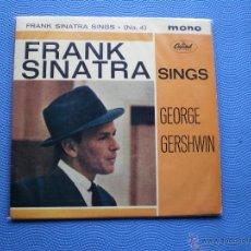 Discos de vinilo: FRANK SINATRA SINGS GEORGE GERSHWIN EP UK PDELUXE. Lote 49948830