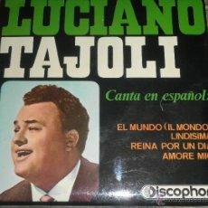 Discos de vinilo: LUCIANO TAJOLI - EL MUNDO EP - ORIGINAL ESPAÑOL - DISCOPHON 1965 - MUY NUEVO (5) - MONO -. Lote 49951897
