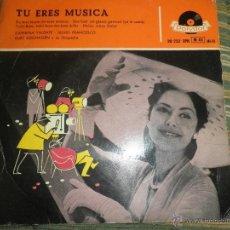 Discos de vinilo: CATERINA VALENTE - TU ERES MUSICA EP - ORIGINAL ESPAÑOL - POLYDOR RECORDS 1958 - MONOAURAL -. Lote 49953926
