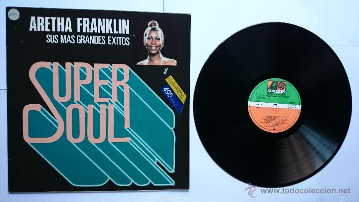 ARETHA FRANKLIN - SUS MAS GRANDES EXITOS (COLECCION 'SUPER SOUL' 1979) (REEDICION 1982) (Música - Discos - LP Vinilo - Funk, Soul y Black Music)