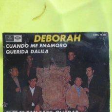 Discos de vinilo: LOS SIXTAR - DEBORAH, CUANDO ME ENAMORO,QUERIDA DALILA - A RARE SPANISH BEAT. Lote 49960680