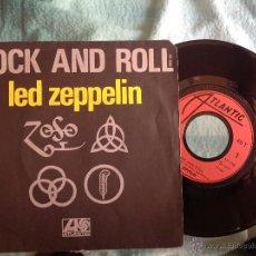 Discos de vinilo: LED ZEPPELIN SINGLE ROCK AND ROLL +FOUR STICKS FRANCIA. Lote 49961716