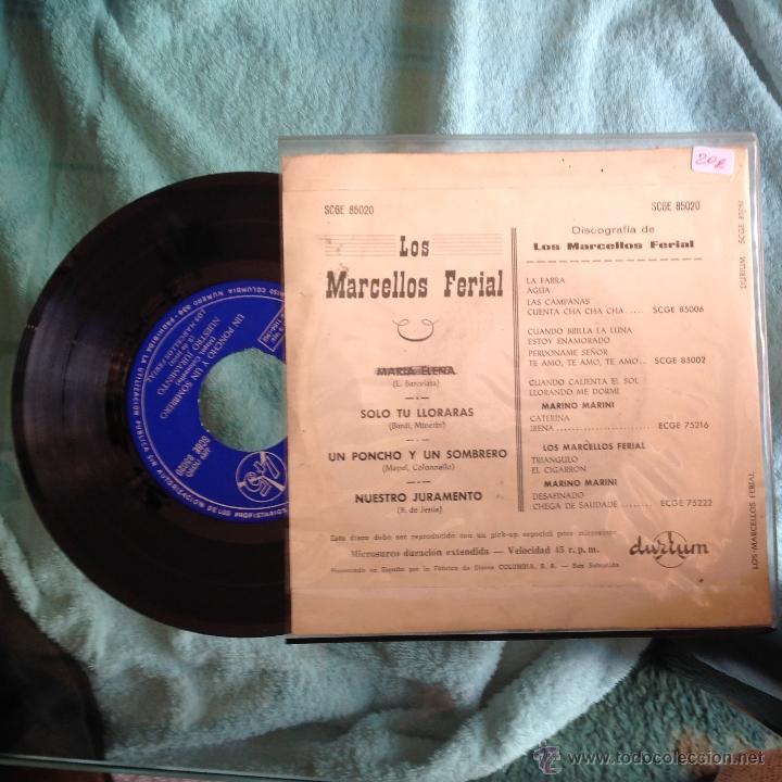 LOS MARCELLOS FERIAL EP MARIA ELENA +3 TEMAS (Música - Discos de Vinilo - Maxi Singles - Grupos Españoles 50 y 60)