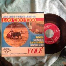 Discos de vinilo: LOS TICO TICO EP FRANCISCO ALEGRE + 3 TEMAS. Lote 49964917