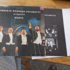 Discos de vinilo: CARRERAS DOMINGO PAVAROTTI. EN CONCIERTO MEHTA. Lote 49965115
