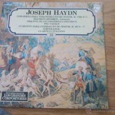 Discos de vinilo: JOSEPH HAYDN. LOS GRANDES COMPOSITORES Nº 33. Lote 49965973