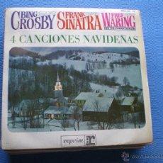 Discos de vinilo: FRANK SINATRA 4CANCIONES NAVIDEÑAS EP SPAIN 1964 PDELUXE. Lote 49966958