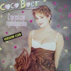 Discos de vinilo: COCO BOER C'QU'EST CON RIGUEDIGUEDON - 12 PULGADAS MAXI SINGLE 45 ORIGINAL FRANCES. Lote 49983261