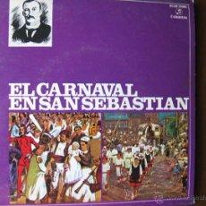 Discos de vinilo: EL CARNAVAL EN SAN SEBASTIAN.EP.COLUMBIA 1959.BANDA DE TAMBORES Y BARRILES DE FANFARE DE GAZTELUBIDE. Lote 49984694