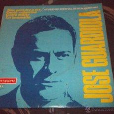 Discos de vinilo: JOSE GUARDIOLA - NON PENSARE A ME - MADE IN SPAIN 1967 - EP. Lote 49985040
