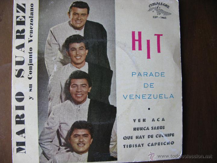 MARIO SUAREZ Y SU CONJUNTO VENEZOLANO. EP. CUBALEGRE. CEP-1465. FABRICADO EN ESPAÑA. 1962. (Música - Discos de Vinilo - EPs - Grupos y Solistas de latinoamérica)