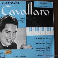 Discos de vinilo: CARMEN CAVALLARO. PIANO CON ACOMPAÑAMIENTO RÍTMICO. IMPRESO POR COLUMBIA.-10.2.56.-200 EJEMP.. Lote 49985403