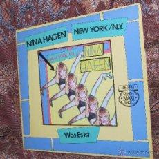 Discos de vinilo: NINA HAGEN- MAXI-SINGLE DE VINILO- TITULO NEW YORK / N.Y.- 2 TEMAS- ORIGINAL DEL 83- NUEVO ESTRENAR. Lote 49985854
