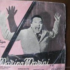 Discos de vinilo: MARINO MARINI Y SU CUARTETO. L'AMULETO MAGICO. TEMA DE OPERA DA TRE SOLDI. DURIUM ECGE 75053. 1958.. Lote 49990269