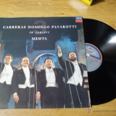 Discos de vinilo: CARRERAS DOMINGO PAVAROTTI. EN CONCIERTO MEHTA. Lote 49998341