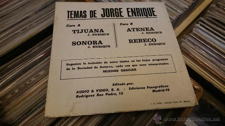 Discos de vinilo: Temas de Jorge Enrique Tijuana Sonora Ep Disco de vinilo BOA 1975 - Foto 2 - 50001620