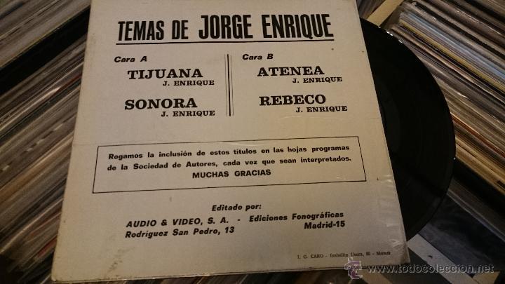 Discos de vinilo: Temas de Jorge Enrique Tijuana Sonora Ep Disco de vinilo BOA 1975 - Foto 4 - 50001620