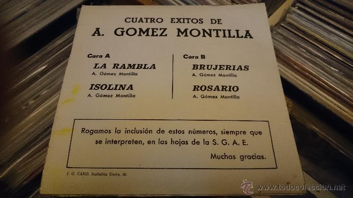 Discos de vinilo: GOMEZ MONTILLA La Rambla Isolina Brujerias Ep Disco vinilo 1974 LUYTOM Latin jazz Muy raro! - Foto 2 - 50002769