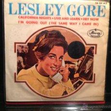 Discos de vinilo: LESLEY GORE EP CALIFORNIA NIGHTS + 3 TEMAS. Lote 50003175