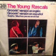 Discos de vinilo: THE YOUNG RASCALS EP GROOVIN´+ 3 TEMAS. Lote 50003622