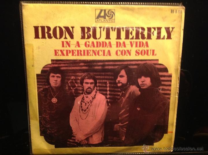 IRON BUTTERFLY SG. IN A GADDA DA VIDA (Música - Discos de Vinilo - Maxi Singles - Pop - Rock Extranjero de los 50 y 60)
