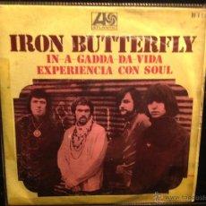 Discos de vinilo: IRON BUTTERFLY SG. IN A GADDA DA VIDA. Lote 50003666