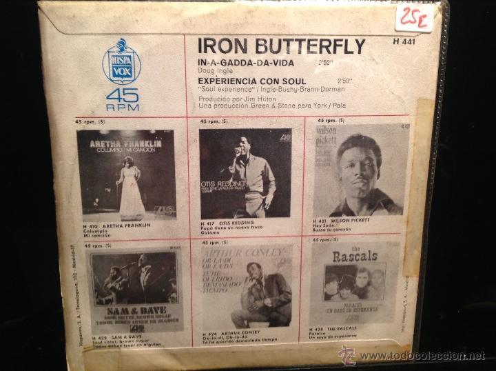 Discos de vinilo: IRON BUTTERFLY sg. In a gadda da vida - Foto 2 - 50003666