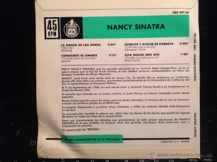 Discos de vinilo: NANCY SINATRA Ep Like i do + 3 temas - Foto 2 - 50003853