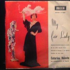 Discos de vinilo: CATERINA VALENTE EP HUBIESE BAILADO TODA LA NOCHE + 3 TEMAS. Lote 50019790