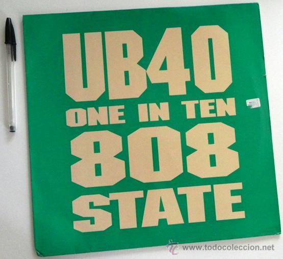 UB40 ONE IN THE 808 STATE - DISCO DE VINILO 45 RPM GRUPO BRITÁNICO - MÚSICA POP SKA AÑOS 80 90 UB 40 (Música - Discos - Singles Vinilo - Pop - Rock Extranjero de los 90 a la actualidad)