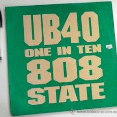 Disques de vinyle: UB40 ONE IN THE 808 STATE - DISCO DE VINILO 45 RPM GRUPO BRITÁNICO - MÚSICA POP SKA AÑOS 80 90 UB 40. Lote 50020553
