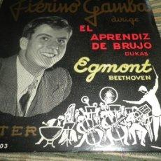 Discos de vinilo: PIERINO GAMBA - EL APRENDIZ DE BRUJO EP - ORIGINAL ESPAÑOL BELTER 1960 - CON LIBRETO INT. GATEFOLD -. Lote 50022101