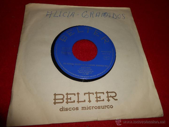 ALICIA GRANADOS NOCTURNO/PROFESOR 7 SINGLE 1966 BELTER PROMO CHICA YEYE (Música - Discos - Singles Vinilo - Solistas Españoles de los 50 y 60)