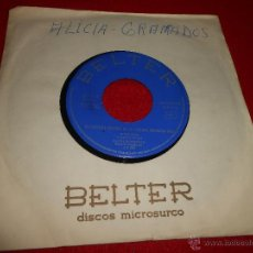 Discos de vinilo: ALICIA GRANADOS NOCTURNO/PROFESOR 7 SINGLE 1966 BELTER PROMO CHICA YEYE. Lote 50025680