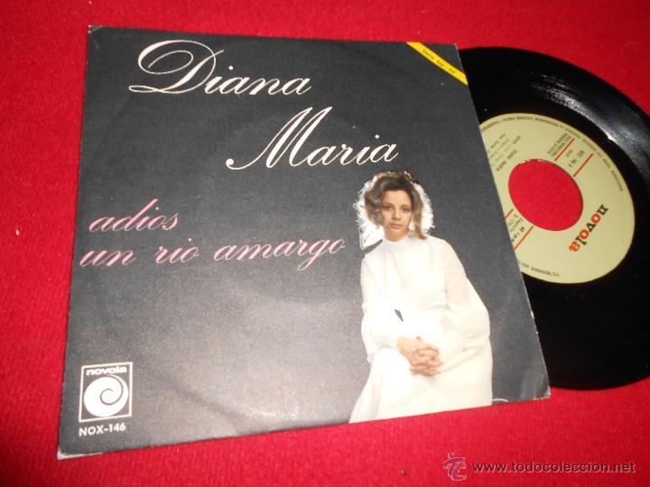 DIANA MARIA ADIOS/UN RIO AMARGO 7 SINGLE 1971 NOVOLA PROMO JUAN CARLOS CALDERON EXCELENTE ESTADO (Música - Discos - Singles Vinilo - Solistas Españoles de los 50 y 60)