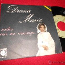 Discos de vinilo: DIANA MARIA ADIOS/UN RIO AMARGO 7 SINGLE 1971 NOVOLA PROMO JUAN CARLOS CALDERON EXCELENTE ESTADO. Lote 50025801