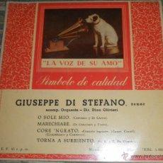 Discos de vinilo: GIUSEPPE DI STAFANO - O SOLE MIO EP - ORIGINAL ESPAÑOL- LA VOZ DE SU AMO 1957 - MONOAURAL -. Lote 50027333