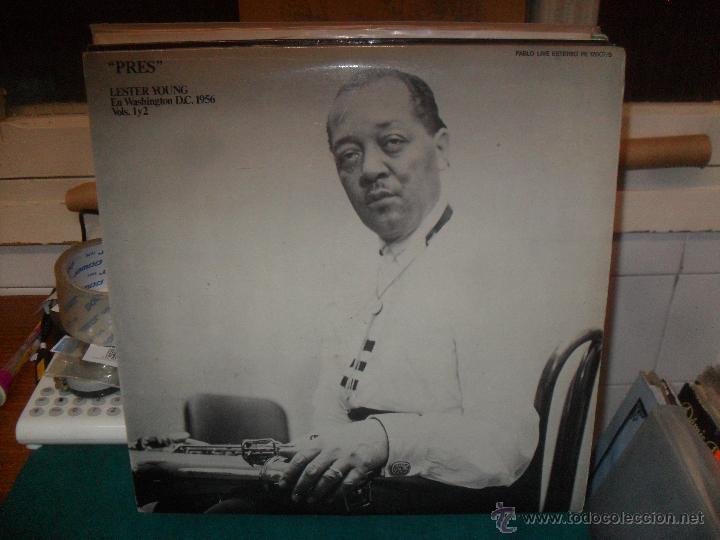 PRES, LESTER YOUNG EN WASHINGTON D. C. 1956 VOLS. 1 Y 2. PABLO RECORDS 1980 (Música - Discos - LP Vinilo - Jazz, Jazz-Rock, Blues y R&B)