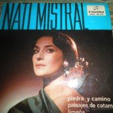 Discos de vinilo: NATI MISTRAL - PIEDRA Y CAMINO EP - ORIGINAL ESPAÑOL - COLUMBIA 1965 - MONOAURAL -. Lote 50035340