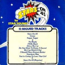 Discos de vinilo: SG STAR SOUND : STARS ON 45 ( + VENUS + SUGAR SUGAR + 8 BEATLES SONGS ). Lote 50035438
