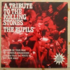 Discos de vinilo: THE PUPILS A TRIBUTE TO THE ROLLING STONES THE EYES REEDICIÓN 1997 R&B MOD POP. Lote 50038146