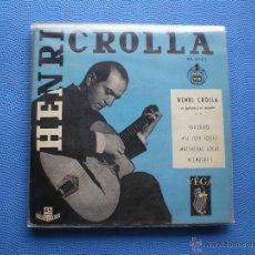 Discos de vinilo: HENRI CROLLA YARDBIRD+3 EP SPAIN PDELUXE. Lote 50038863