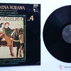 Discos de vinilo: CLEMENCIC CONSORT - CARMINA BURANA VOL. 4 (L' AMOUR ET L' ARGENT) (1979). Lote 50044347